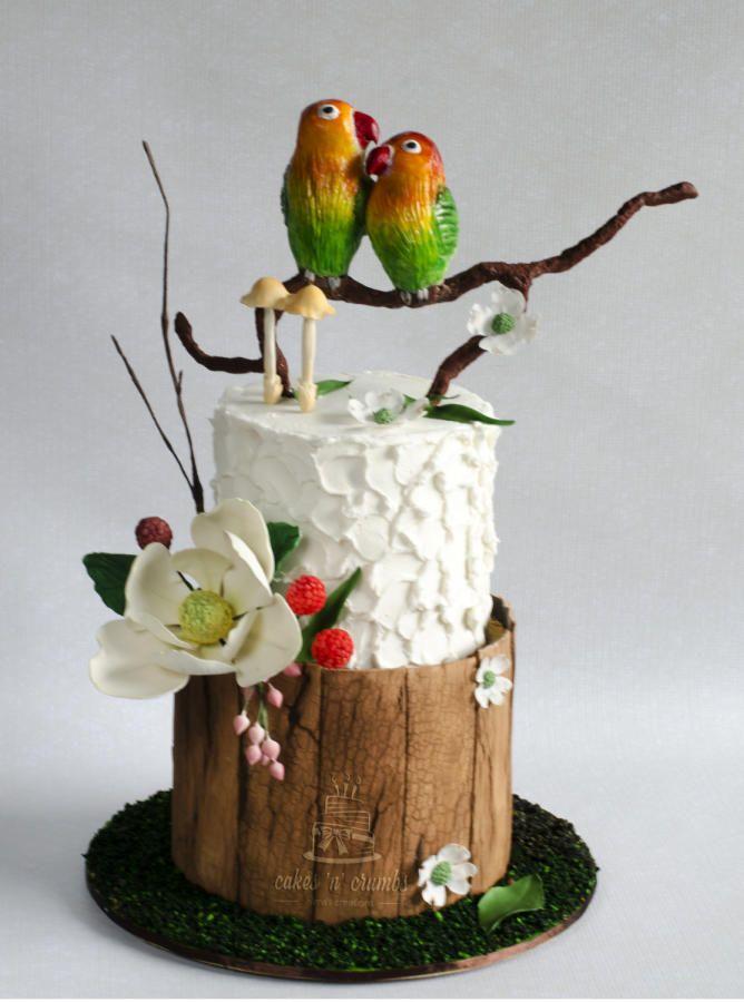 Love Birds Wedding Cake !! by Hima bindu - http://cakesdecor.com/cakes/263790-love-birds-wedding-cake