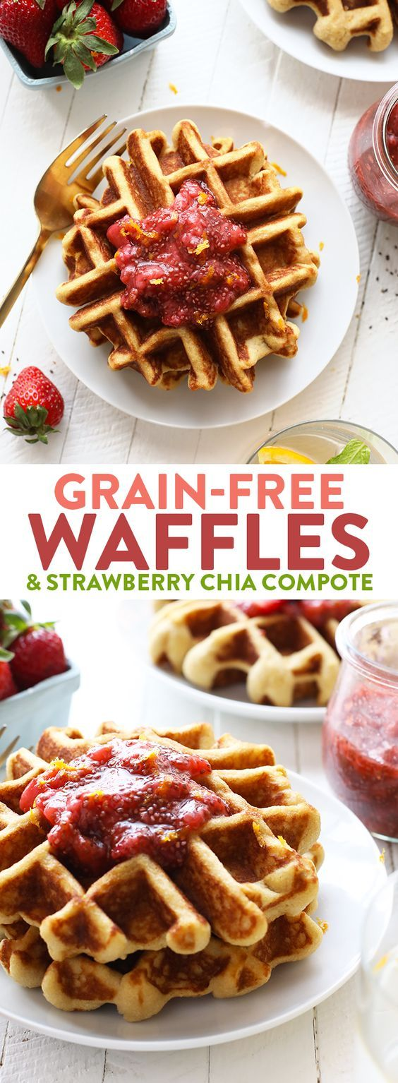 cool Grain Free Waffles with Homemade Strawberry Jam