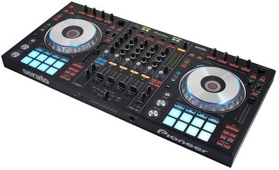 Pioneer DDJ-SZ, DJ controller, full-frame jog wheels with cue countdown and position indicator, On-Jog Display, Digital cue point markers, thomann jog illumination, ....
