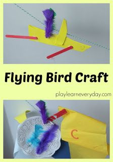 Flying Bird Craft - Play and Learn Every Day