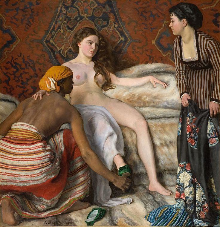 Bazille, Frédéric ~ La Toilette, 1869-70, Oil on canvas Musee Fabre, Montpelier - Frédéric Bazille — Wikipédia