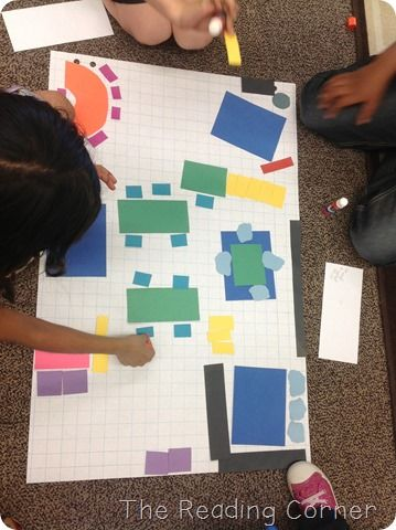 Kids make a map of the classroom layout, complete with a map key to show what each symbol stands for.