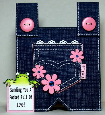 This idea can be modified many ways!  I like the lace in the pocket.