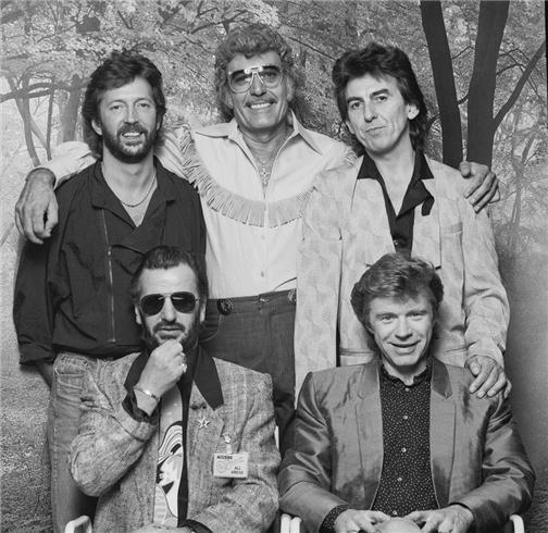 Eric Clapton, Carl Perkins, George Harrison, Ringo Star & Dave Edmunds