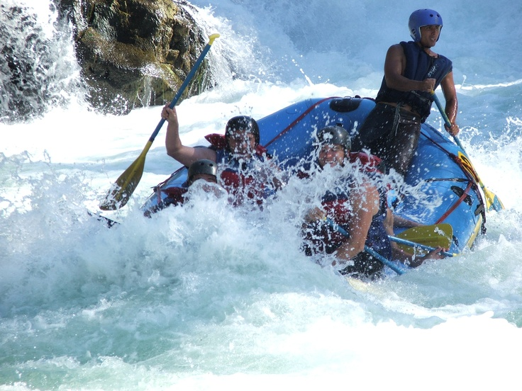Rafting the Rio Trancura in Pucon, Chile