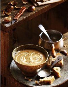 Soupe de châtaignes et de céleri-rave