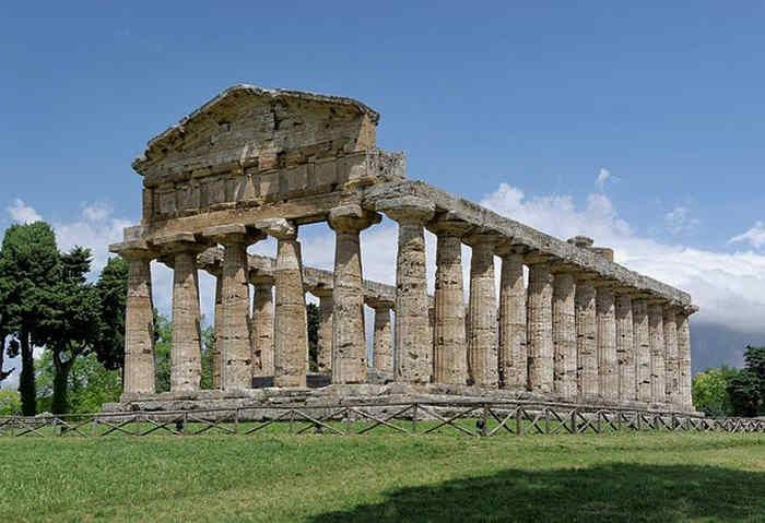 In Italy you can find also some Greek ruins you can visit like Paestum temples. These are incredibly well-preserved Greek temples on Italian land.