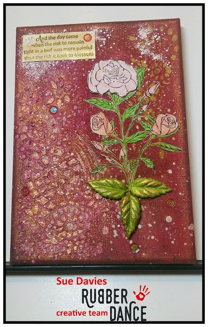 * Rubber Dance Blog *: Mixed Media Canvas Tutorial with Rose stamp