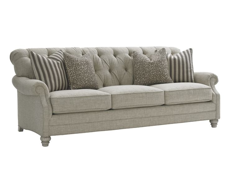 Wonderful Oyster Bay Greenport Tufted Sofa With Scoop Rolled Arms By Lexington At  Sprintz Furniture