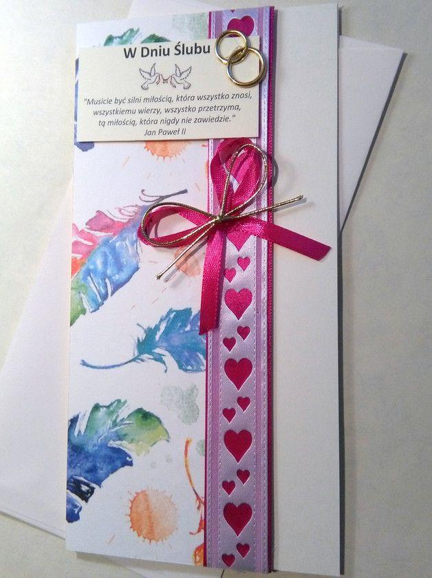 Kartka ślubna - GoldPaperArt - Kartki ślubne Kartka ślubna - elegancka, ze złotem. - GoldPaperArt - Kartki ślubne #ślub #kartka #ślubna #okolicznościowa #weeding #card #handmade #rękodzieło