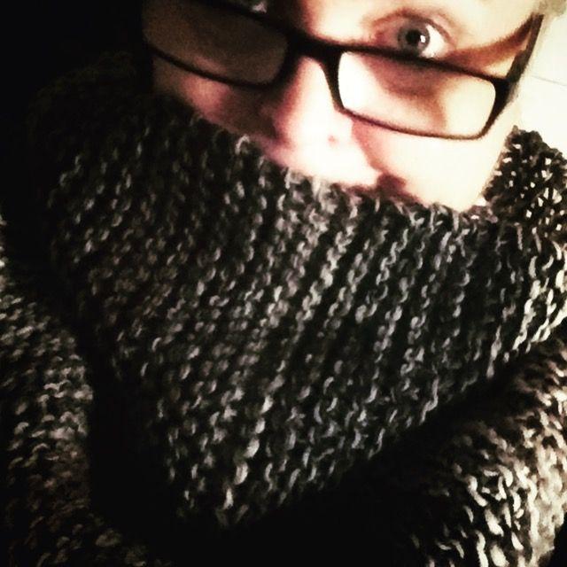 Ullskjerf,strikket 🌹🌹