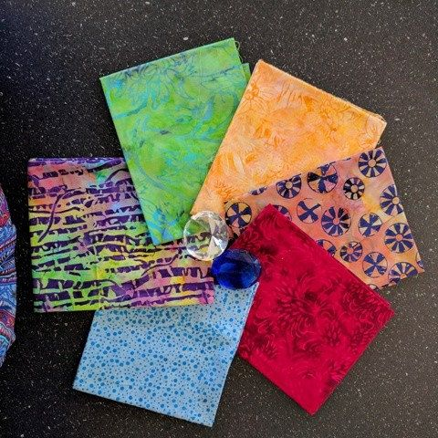 Fat Quarter Packs in bright jewel colours!!