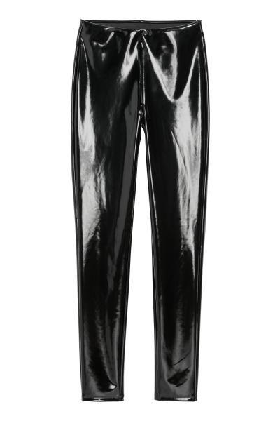 Vinyl leggings - Black - Ladies | H&M GB 3