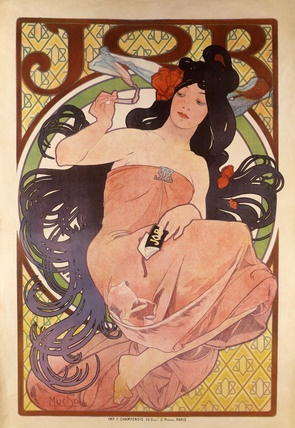 Masters: Alphonse Mucha: De Mucha, Deco Poster, Art Nouveau, Cigarettes Paper, Alphon Mucha, Job Cigarettes, Art Deco, Paper Poster, Alphonse Mucha