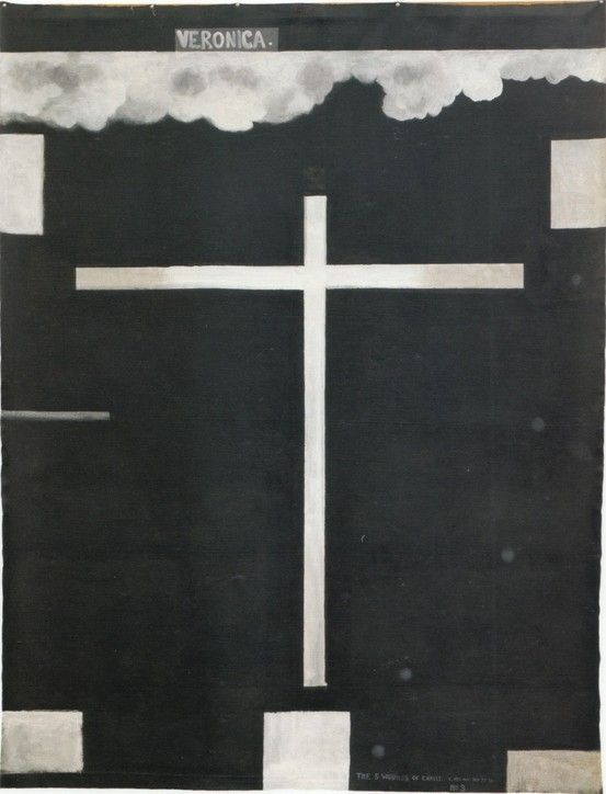 The 5 Wounds of Christ no. 3: Veronica, 1977-78. Colin McCahon. by irene