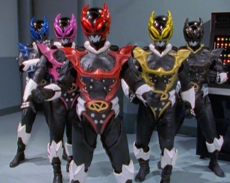 The Psycho Rangers from Power Rangers In Space & Power Rangers Lost Galaxy