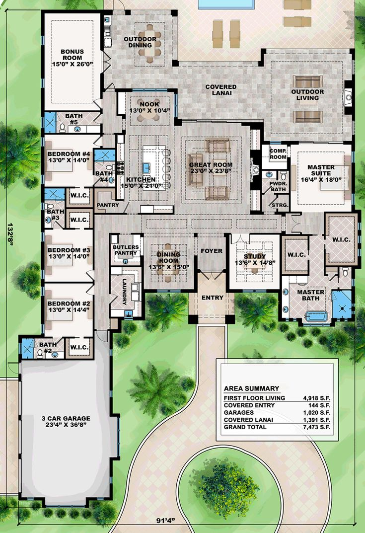 Best 25 mediterranean house plans ideas on pinterest for One level living floor plans