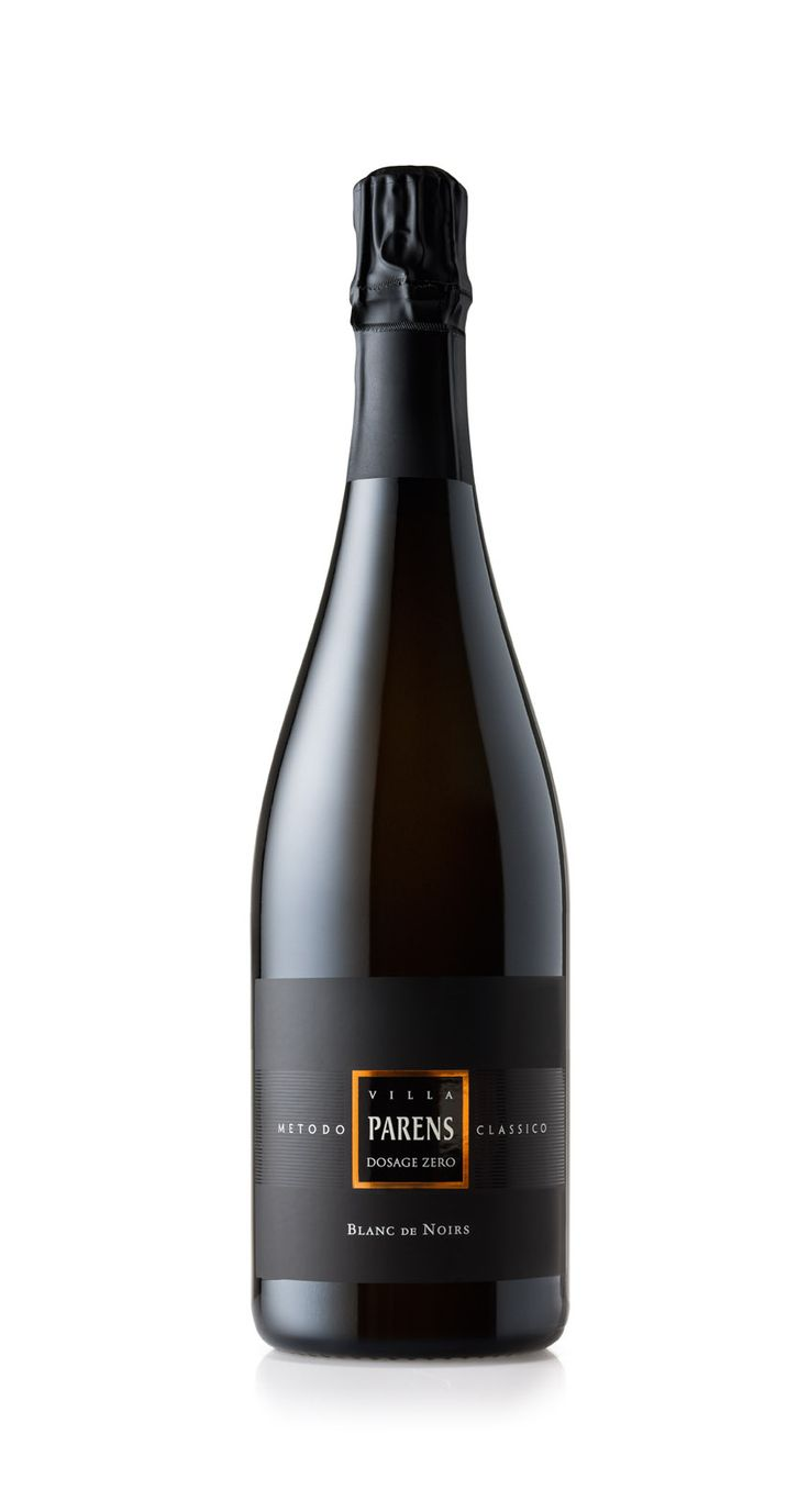 VILLA PARENS Classical Method - BLANC DE NOIRS Dosage Zero Millesimée Vintage, white sparkling wine made from pure Pinot Noir, the greatest expression of elegance in a glass.