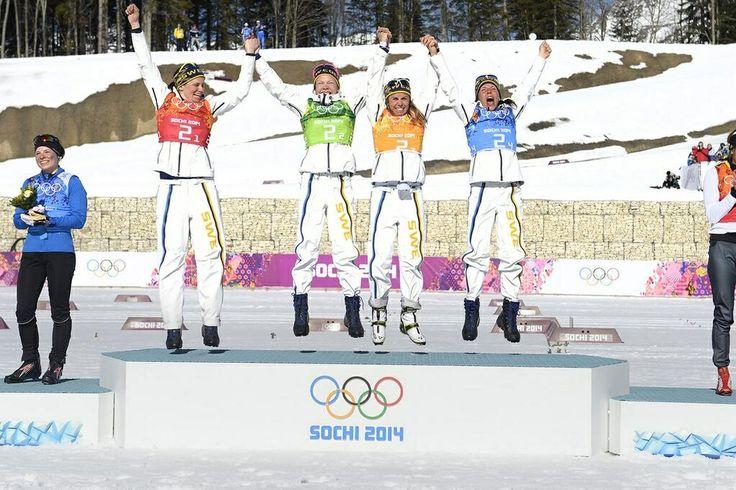 GOLD girls!!! Ida Ingemarsdotter, Emma Wiken, Anna Haag & Charlotte Kalla