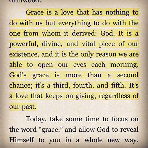 I think it's hard for people who may not have a close relationship with Jesus to understand what 'grace' means, and I think this is a perfect explanation.  Thanks, @Candace Gutierrez!!