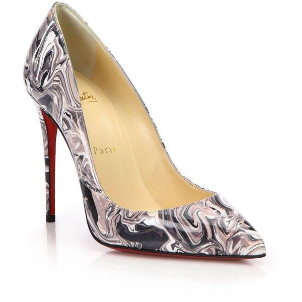 christian louboutin Decollete patent leather round-toe pumps Black ...
