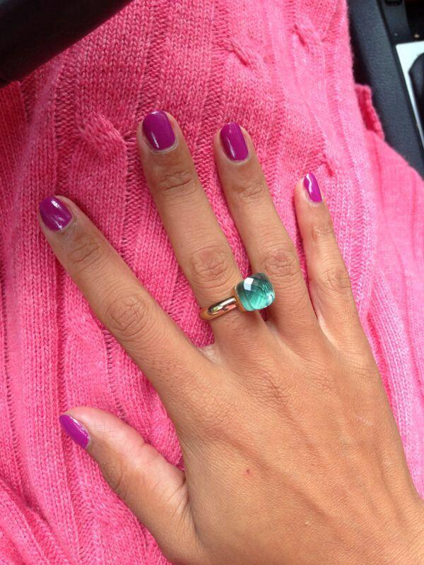 Qudo Firenze Ring Aqua