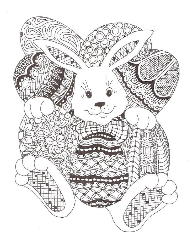 Zentangle Made By Mariska Den Boer 113 Easter Bunny