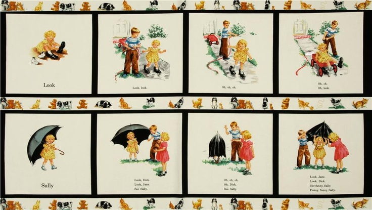 1950 Dick And Jane Fabric