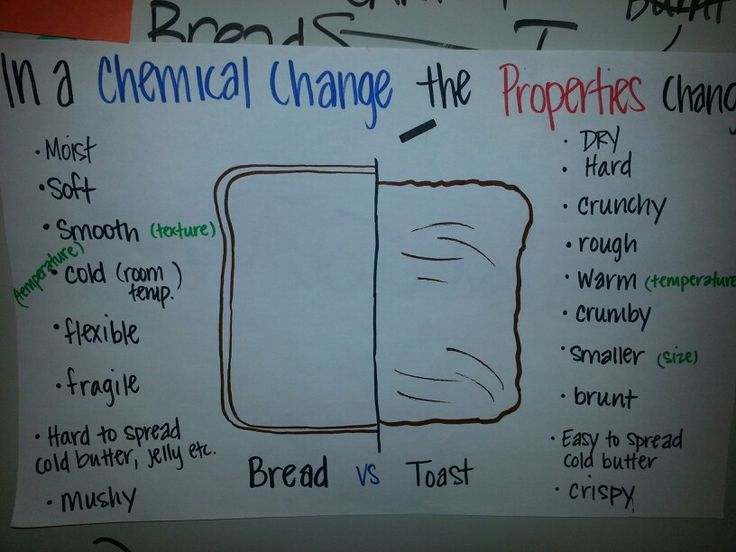 Chemical change + physical properties with bread vs toast ...