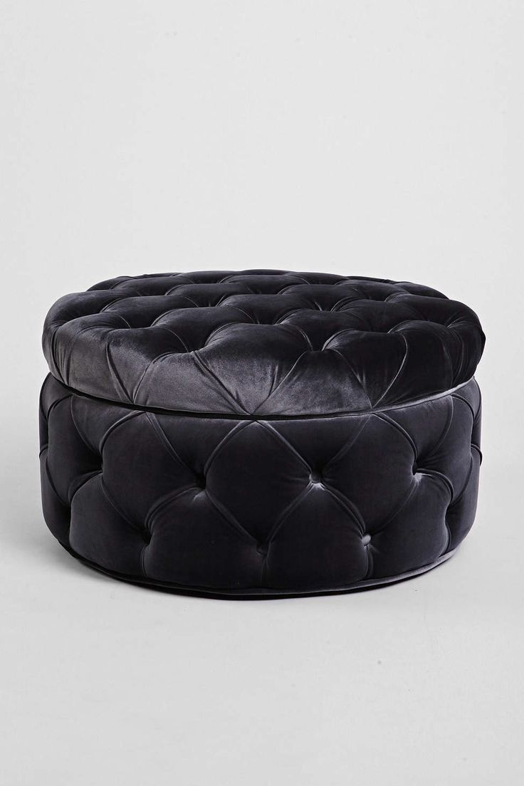 Plum & Bow Ava Large Storage Ottoman for the dressing room