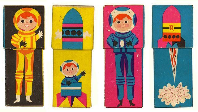 Vintage childrens Rediplete Pediatric Syrup Box (all sides) 1960's made by Merck Sharp & Dohme. So rad.