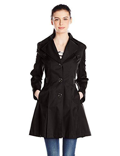 Via Spiga Women's Single Breasted Pleated Trench Coat