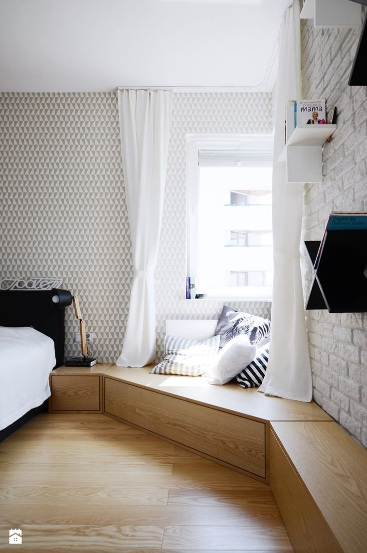 MIESZKANIE 62M² – PRAGA POŁUDNIE - Duża sypialnia małżeńska, styl skandynawski - zdjęcie od Devangari Design