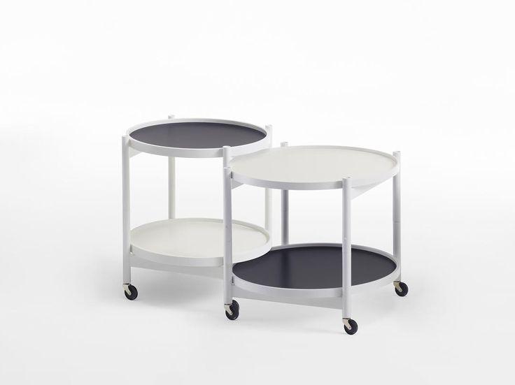 Create a nested group of tables with short and wider variants together #bøllingtraytable #hansbølling #brdrkruger #scandinaviandesign #furniture #blackandwhite #interiordesign