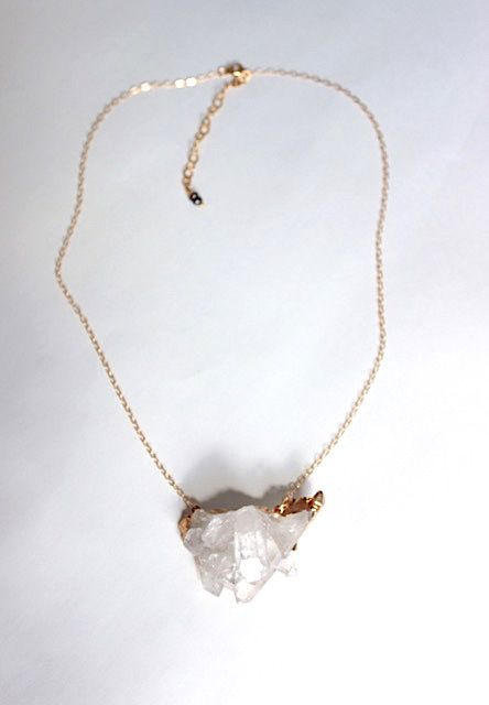 Crystal Pendant Gold