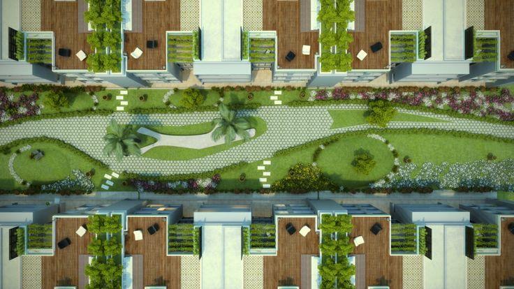 Villa top plan