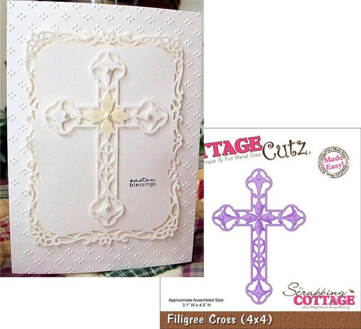 Filigree Cross Metal Die Cut By Cottage Cutz