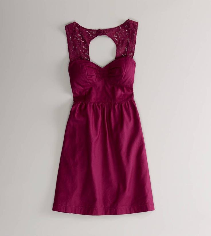 Raspberry Open Back Corset Dress