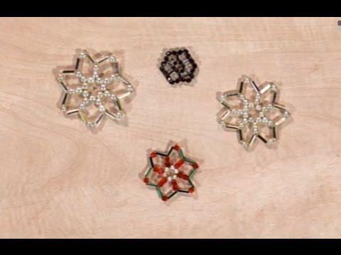 Ako vyrobiť vianočnú hviezdu z korálikov - Artmama.sk - Postup - YouTube