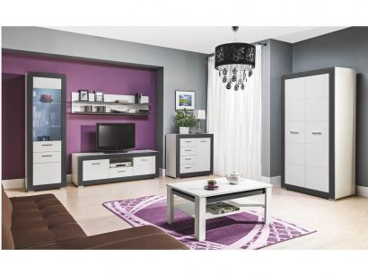 Obývacia izba - Bog Fran - Gray 1 Vkusné spojenie bielej a šedej spolu s moderným dizajnom spravia z Vašej obývačky úžasné miesto.