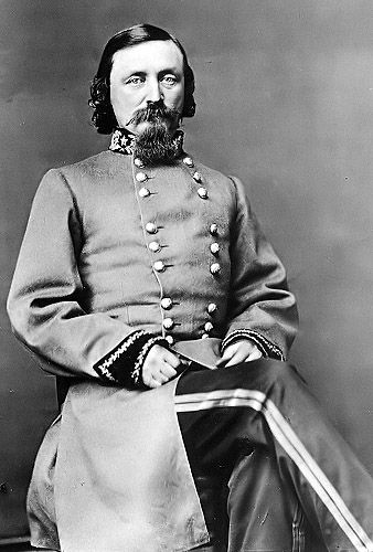 """General George Edward Pickett was a major-general in the army of the Confederate States of America during the American Civil War. During the Civil War Battle of Fredericksburg, Pickett's forces helped contribute to the overwhelming Confederate victory. He led the disastrous and foolhardy """"Pickett's Charge"""" against Union lines in the Battle of Gettysburg, in the process losing almost his entire division. To his dying day, he bitterly mourned this great loss."""