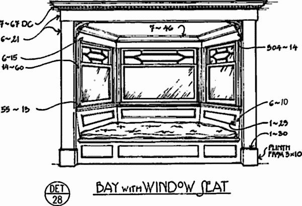 Window Seat Height bay window measurements | click on any numbered item in the