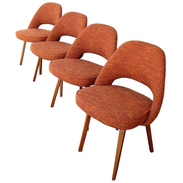 A set of four  Executive  side chairs by Eero Saarinen c 1960 s. 74 best Mid century Furniture images on Pinterest