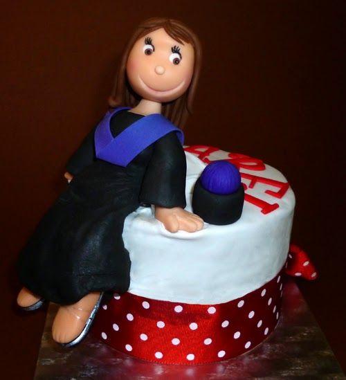 La tarta-regalo que le hice a mi hermana pequeña cuando se graduó en psicología