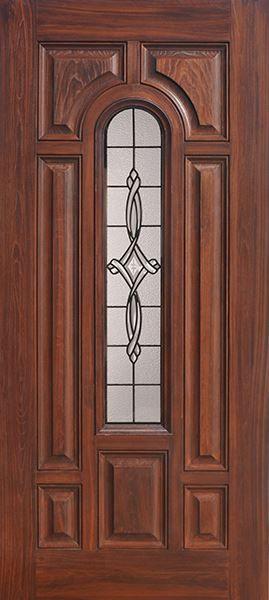 GlassCraftu0027s Center Arch Lite Door With Beautiful Wood Grains. For $399,  Prefinished Premium Composite