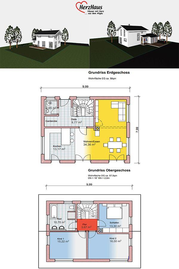 Haus Marion Haus Grundriss Wohn Esszimmer Wc Im Erdgeschoss