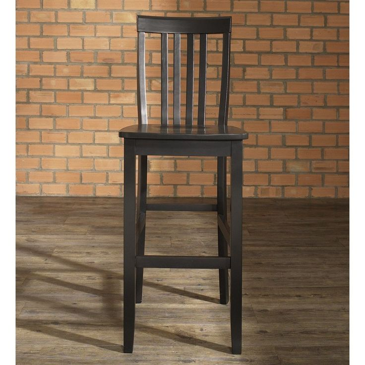 Crosley Furniture CF500330-BK School House Bar Stool in Black Finish with 30 Inch Seat & Best 25+ 30 inch bar stools ideas on Pinterest | 30 bar stools 26 ... islam-shia.org