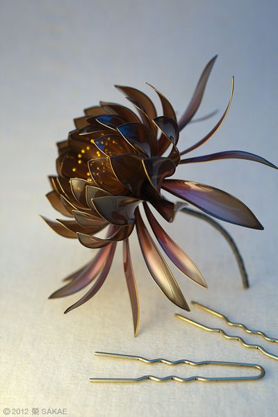 Japanese hair accessory, Kanzashi by SAKAE, Japan
