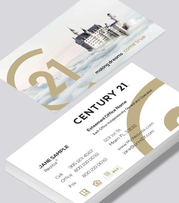 Century 21 Dream Home Business Card Business Card Modern Modern Business Cards Design Free Business Card Design