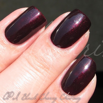 OPI - Black Cherry Chutney. A classic OPI. Everyone should own this, or one like it.